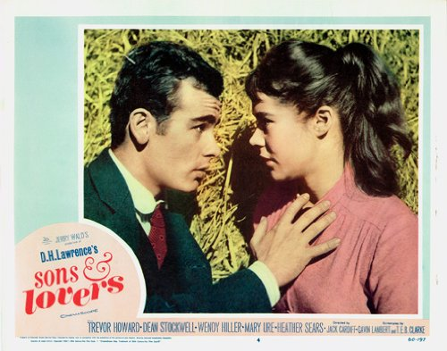 (SONS AND LOVERS DEAN STOCKWELL HEATHER SEARS IN FRONT OF STRAW BALE)