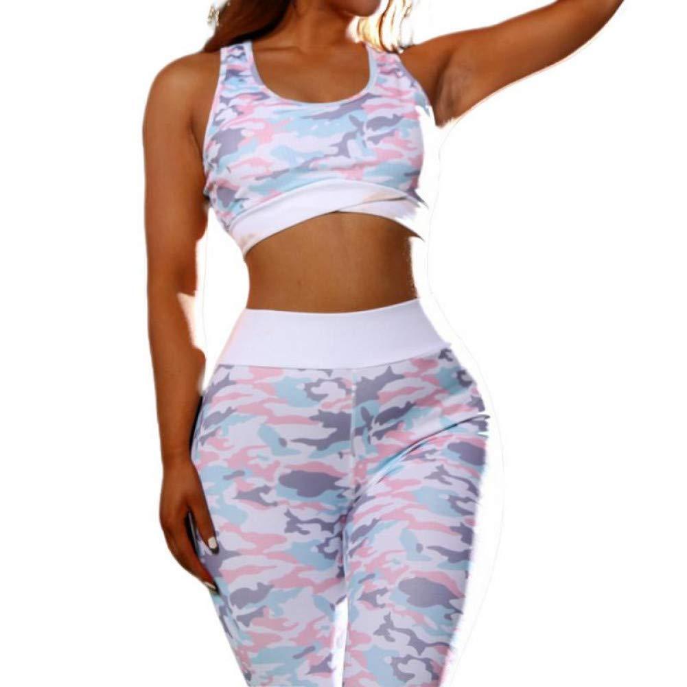 YOGOAOO Camouflage Mesh Fitness Sport Passt Frauen Yoga Kleidung Set Workout Sportbekleidung Weibliche Trainingsanzüge Athletische Laufbekleidung