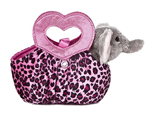 Aurora World Fancy Pals Plush Toy Pet Carrier, Elephant Jung