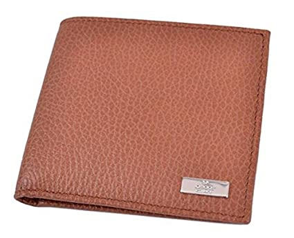 b4282ea7b81 Image Unavailable. Image not available for. Color  Gucci 143383 Gucci  Cognac Brown Textured Leather Men s Bifold Wallet