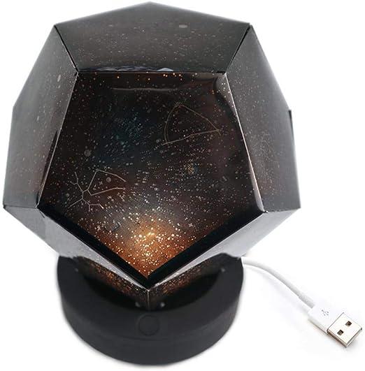 Hamkaw Lámpara de Proyector Estrellas Romántico, Lámpara de ...