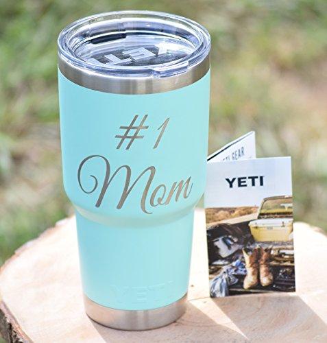 Number 1 Mom Yeti Tumbler - Engraved Yeti Rambler - 20 oz Yeti - 30 oz Yeti - Personalized Yeti - Yeti Gift - Laser Engraved Yeti - Yeti Tumbler - Yeti Cup - Yeti Monogram by YETI