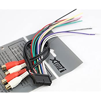 xtenzi radio wire harness compatible with jensen 20 pin cd6112 cd3610  mp5610 cd335x cd450k vm8012 vm8013