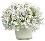 RG Style Silk Hydrangeas in Decorative Vase Artificial Floral Arrangement