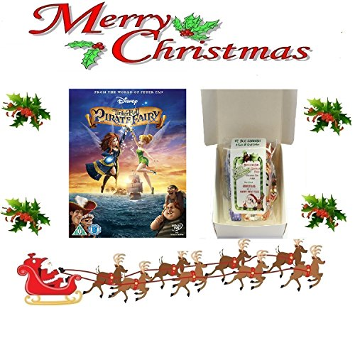 Tinkerbell Fairy Pirate (Christmas Gift Pack - Tinker Bell and the Pirate Fairy [NON USA FORMATTED VERSION REGION 2 DVD] + Ye Old Cornish Christmas Sweets Gift Bag)
