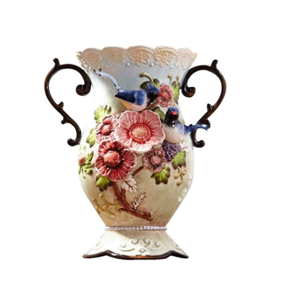 ヨーロッパスタイルのセラミック花瓶用花グリーン植物結婚式の植木鉢装飾ホームオフィスデスク花瓶花バスケットフロア花瓶 B07RM18TF1