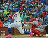 Javier Baez Signed Chicago Cubs Mother's Day Walk Off Homerun Action 16x20 Photo