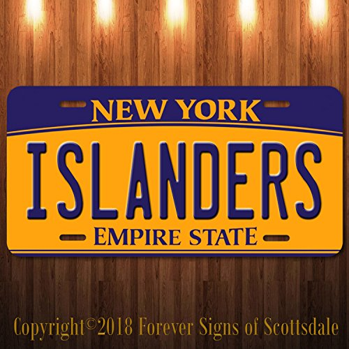 Islander Vanity - Forever Signs Of Scottsdale Islanders NHL Hockey Team New York Aluminum Vanity License Plate New
