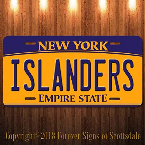 Forever Signs Of Scottsdale Islanders NHL Hockey Team New York Aluminum Vanity License Plate New