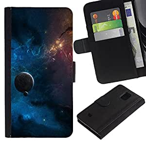 UNIQCASE - Samsung Galaxy S5 Mini, SM-G800, NOT S5 REGULAR! - Space Planet Galaxy Stars 14 - Cuero PU Delgado caso cubierta Shell Armor Funda Case Cover