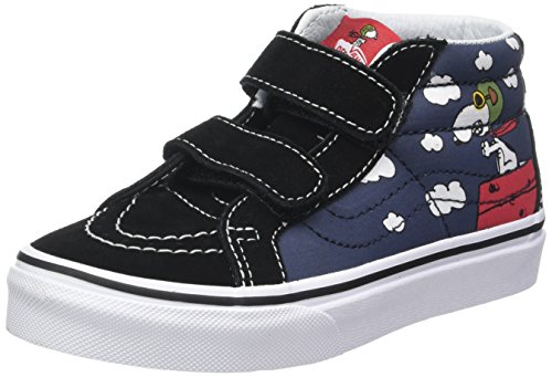 Vans UY SK8-Mid (Peanuts) Flying Ace/Dress Blues VN0A346YOHK Kids - Brothers Blues Shoes