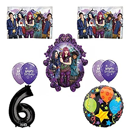 Image Unavailable Not Available For Color Disney The Descendants 2 Happy 6th Birthday Party Supplies