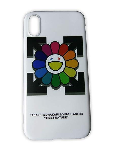 promo code 5c656 73037 Amazon.com: Off White Takashi Murakami Flower Logo iPhone Xs Max ...