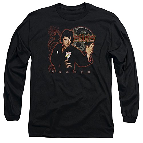 Elvis-Presley-Karate-Adult-Long-Sleeve-T-Shirt
