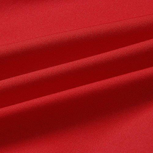 Túnica Mujer Camisa Corto Vestidos Fiesta Irregular Vestido 2018 Ropa de Sexy para Vestir Elegante Mujer de Playa Ruffle Mujeres Verano Vestidos Mini Vestido Rojo Casual 1rFRFdq