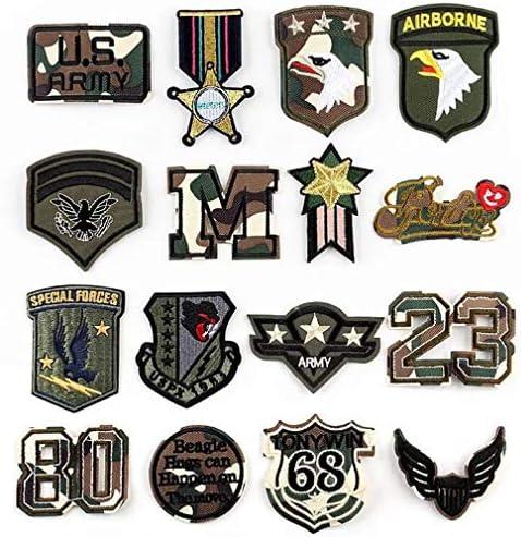 Bella 16pcs Parches Apliques Sticker Parche Patches Bordado Termoadhesivo Patch Estados Unidos America Militar Insignia Badge Águila Cool para Camiseta Jeans Ropa Bolsas Regalo: Amazon.es: Hogar