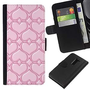 JackGot ( Pink Love ) LG G2 D800 la tarjeta de Crédito Slots PU Funda de cuero Monedero caso cubierta de piel