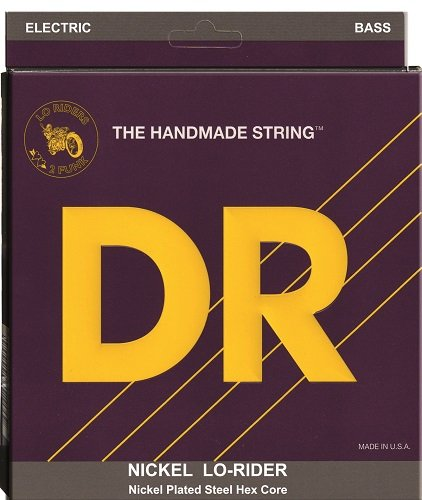 DR Strings Nickel Lo-Rider - Nickel Plated Hex Core 5 String Bass 45-125