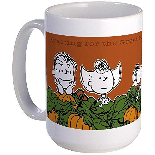 CafePress Halloween In The Pumpkin Patch Large Mug Coffee Mug, Large 15 oz. White Coffee Cup ()