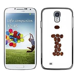 Be Good Phone Accessory // Dura Cáscara cubierta Protectora Caso Carcasa Funda de Protección para Samsung Galaxy S4 I9500 // Coffee Beans Brown I Hipster