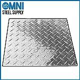 Aluminum 3003-H22 Diamond Tread Plate .063'' x 24'' x 48'', Bright Finish, ASTM B209