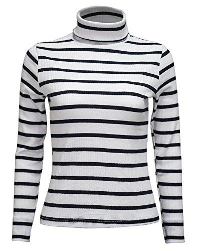 Women's Basic Black Striped T-Shirt - 6