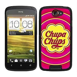FUNDA CARCASA PARA HTC ONE S CARAMELO 2 BORDE NEGRO