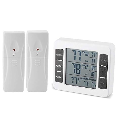 Termómetro para nevera y congelador, termómetro para nevera y ...