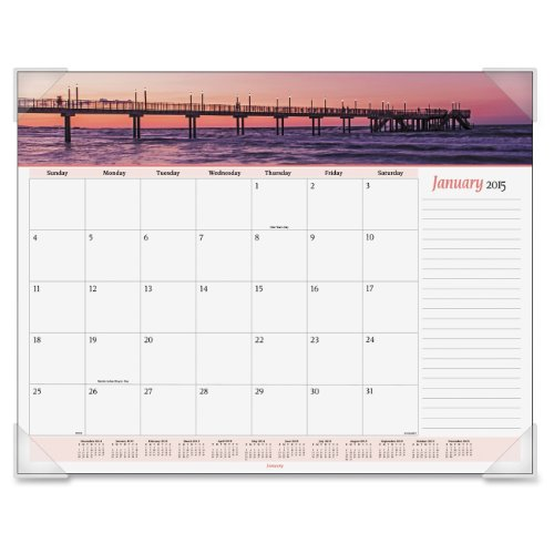 AT-A-GLANCE 2014 Monthly Seascape Panoramic Desk Pad, 22 x 17 Inches (89803)