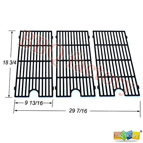 bbq factory® Replacement Porcelain coated Cast Iron Cooking Grid Grate JGGX193 for Perfect Flame Master Forge Jenn Air and others, Set of 2