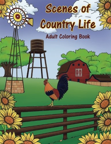 Scenes Country Life Adult Coloring product image