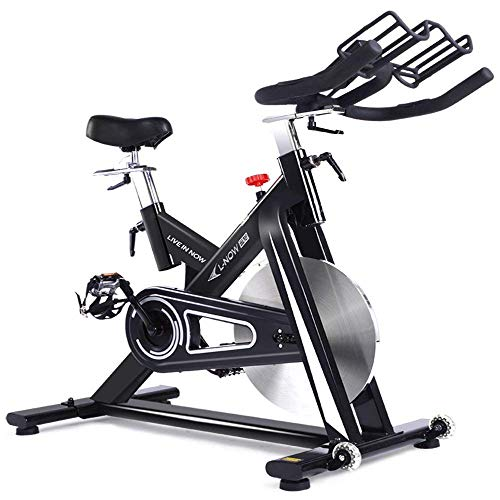 pooboo Indoor Cycling Bike, Exercise Bike Trainer Bicycle Cardio Fitness Heart Pulse W LED Display Stationary Indoor Pro Indoor Training Equipment