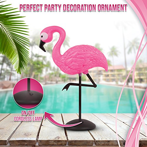 Amazon.com: Flamingo Decor Pink Standing Lamp - LED Light Up Table ...