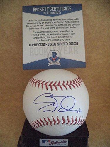 Eric Filia Seattle Mariners Rookie Year Signed Ml Baseball Beckett R03039