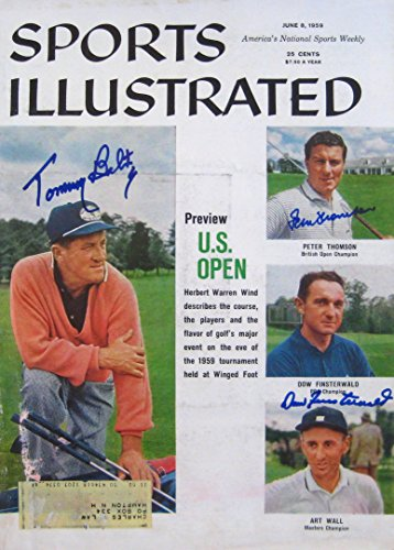 Bolt Thomson - Tommy Bolt, Peter Thomson & Dow Finsterwald autographed Sports Illustrated magazine 6/8/59