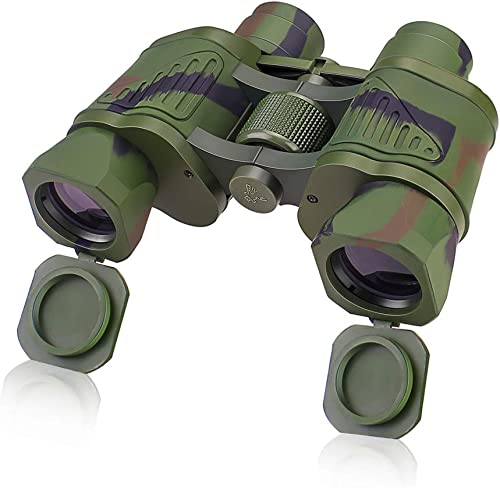 Binoculars 10X42 with Low Light Vision, Folding Durable HD Binoculars with Easy Focus Knob Texture Grip, Professional Compact Binoculars for Hunting, Travelling,Adventure Concerts,and Sports Watching