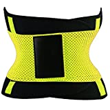 PU Health Pure Acoustics Compression Dual Strap Waist Trainer Fitness Belt for Slimming, Yellow, 0.65 Pound Review