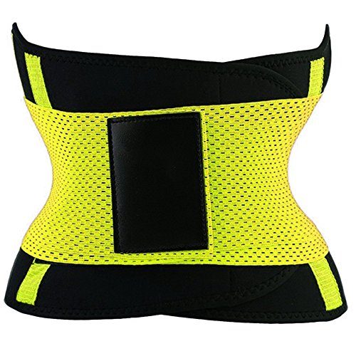 PU Health Pure Acoustics Compression Dual Strap Waist Trainer Fitness Belt for Slimming, Yellow, 0.65 Pound