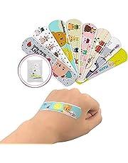 Cartoon Bandaids Adhesive Bandages 120PCS Waterproof Creative 10 Different Patterns Bandages Cute Hemostasis Adhesives First Aid Kit for Kids