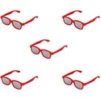 Raylite 5 X Passive Circular Polarized Lens 3D Glasses for Child (Red)