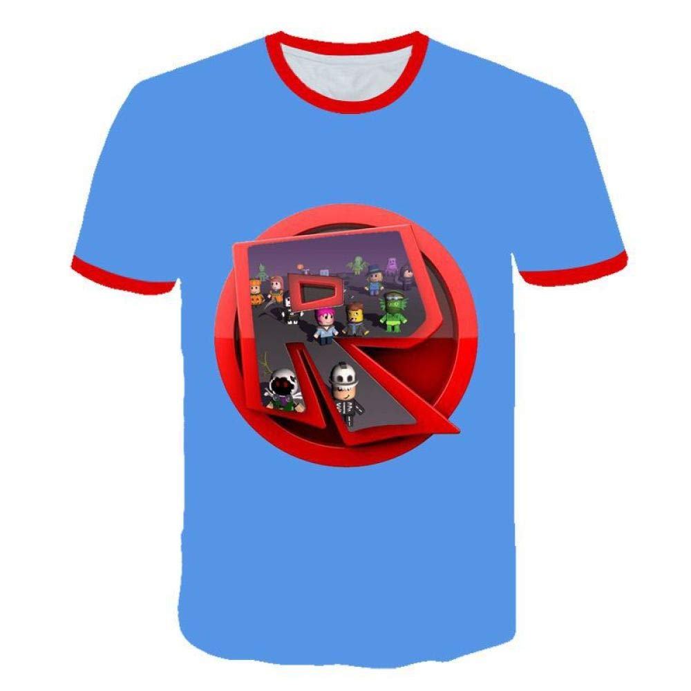 God Driver Camiseta Juego Niño Y Niña / / para Niños 3D Digital Impresión por Roblox Modelo Corto Manga Casual Parte Superior Juventud / A1 / 120