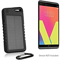 LG V20 Battery, BoxWave [Solar Rejuva PowerPack (5000mAh)] Solar Powered Backup Power Bank for LG V20 - Jet Black