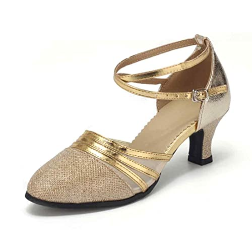 IOSHAPO Zapatos para Mujer de tacón Alto Zapatos de Baile