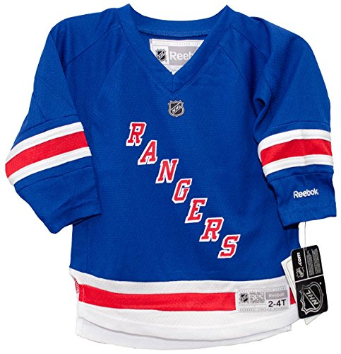 NHL Toddler New York Rangers Team Color Replica Jersey - R54Hwbmm (Blue, 2-4T)
