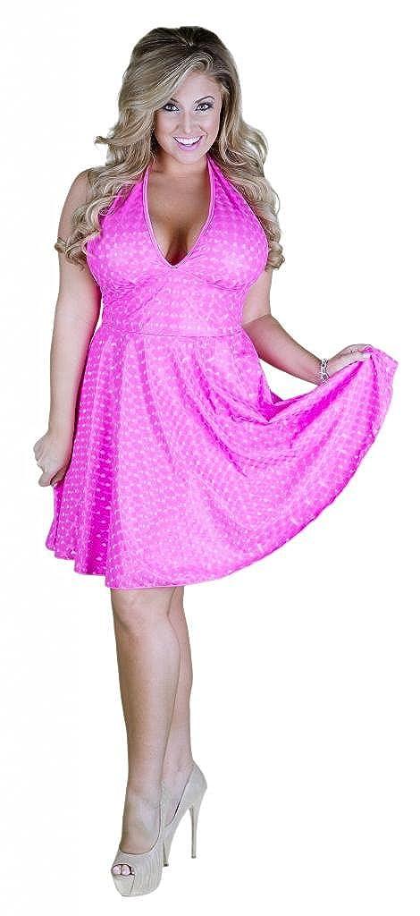 Amazon.com: Vinyl Plus Size Halter Dress 6x Neon Pink: Clothing