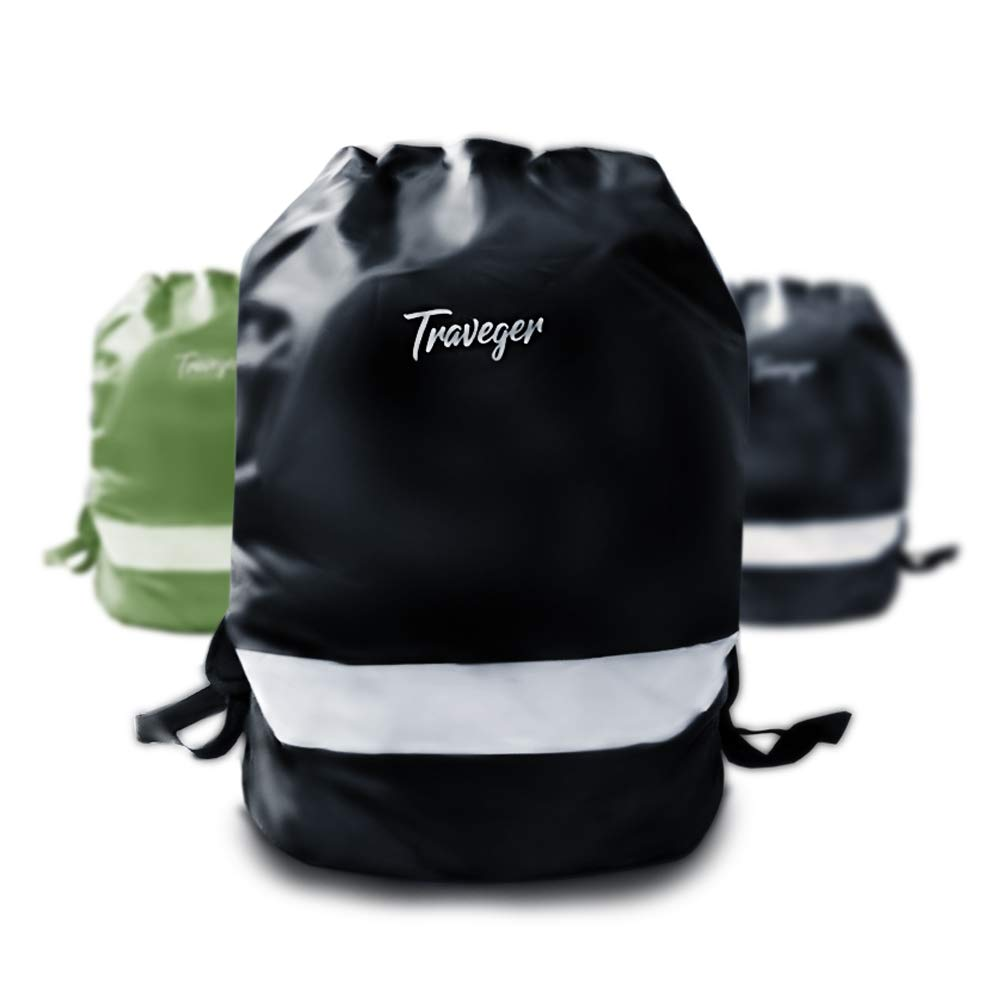 Comes Along with a Handy Pouch for Easy Access M//L Traveger Backpack Rain Cover with Reflective Glowing Stripe | Waterproof Stylish Backpack Cover for Hiking Camping Traveling Cycling