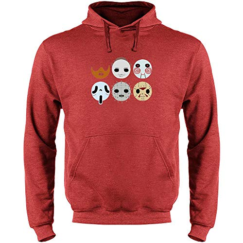 Horror Masks Halloween Costume Monster Mens Fleece Hoodie Sweatshirt