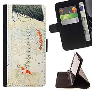 /Skull Market/ - GIRL EMO MEANING SKELETON DEEP ART For Samsung Galaxy S6 - Caja de la carpeta del tir???¡¯???€????€????????&cen