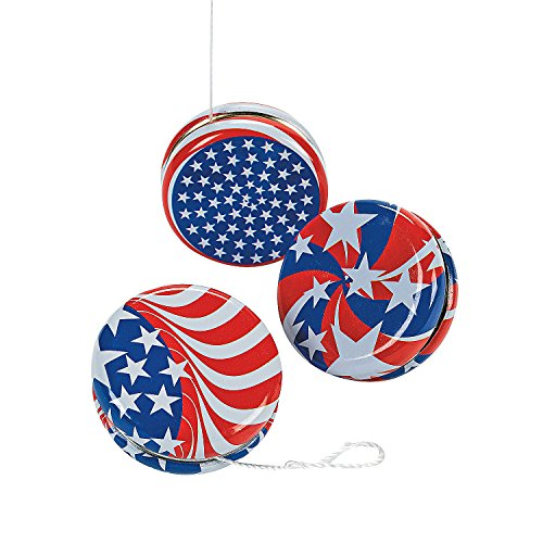 Fun Express - Patriotic YO-Yos for Fourth of July - Toys - Value Toys - Yo - Yos - Fourth of July - 12 Pieces