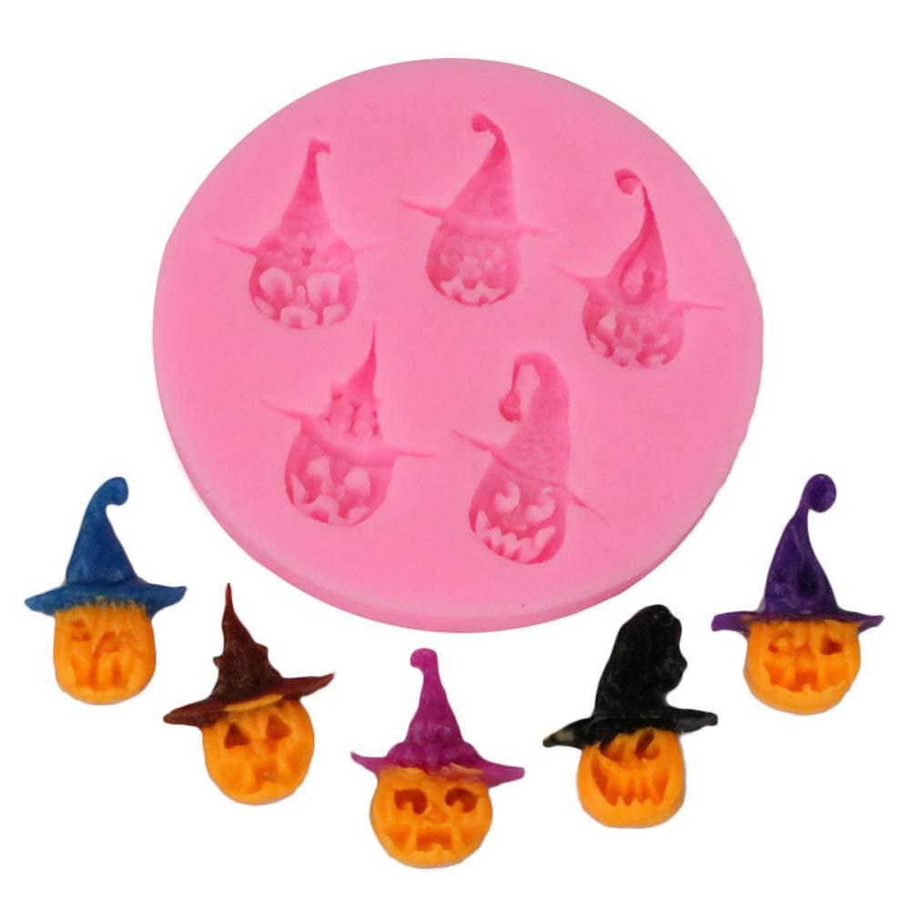 1 calabaza de silicona para Halloween con capucha, molde para hornear galletas, molde para chocolate Rocita
